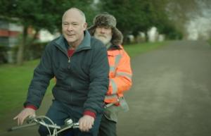 Hec McAdam - 20 Hec & Peter on bike mid